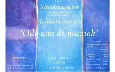 Uitnodiging concert Klein Keizer Koor in de Dorpskerk Durgerdam!