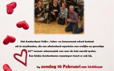 Optreden Amsterdams Salonorkest 10 februari in het Dr. Sarphatihuis!