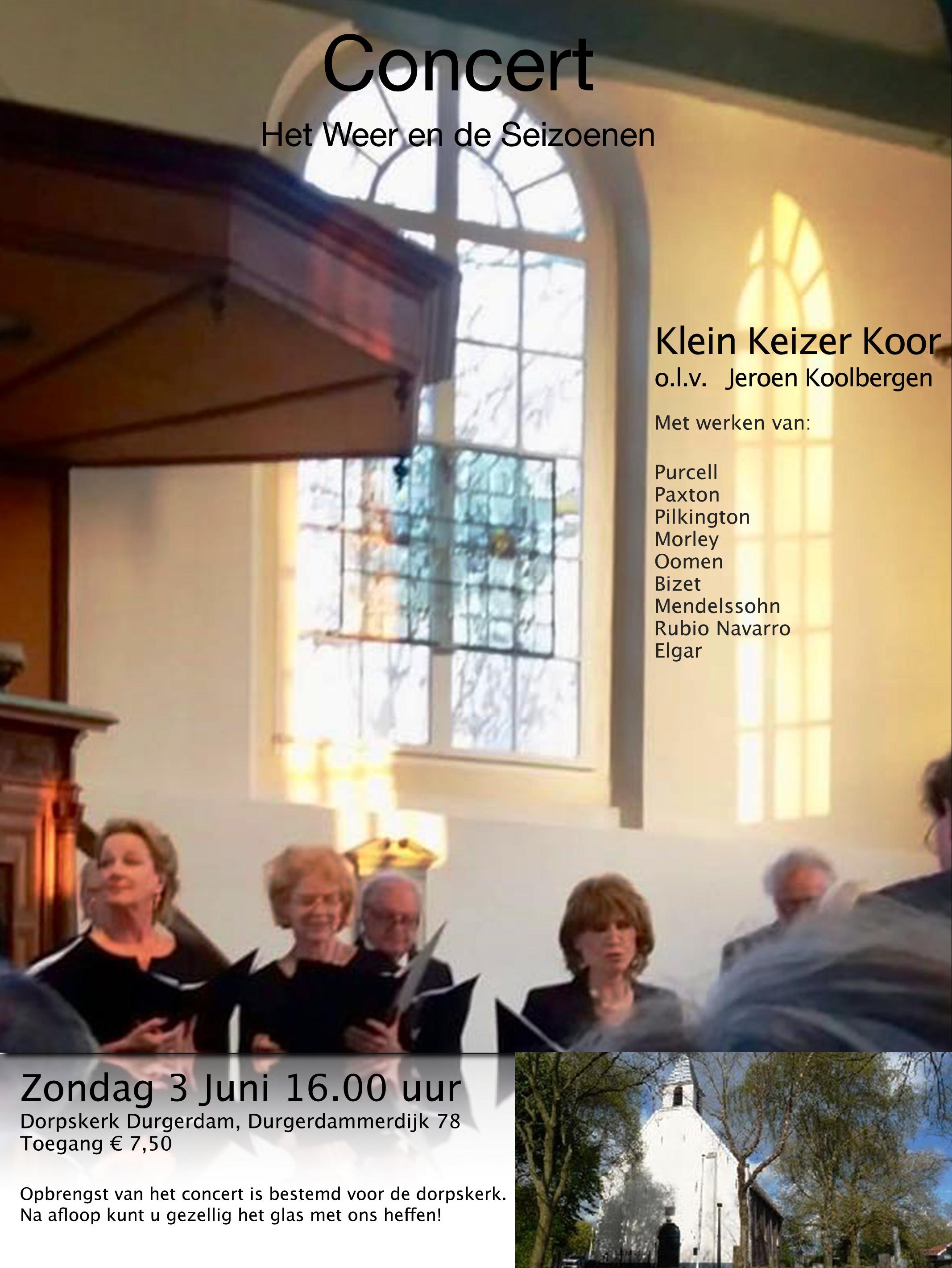 Klein Keizer koor treedt op in Durgerdam!