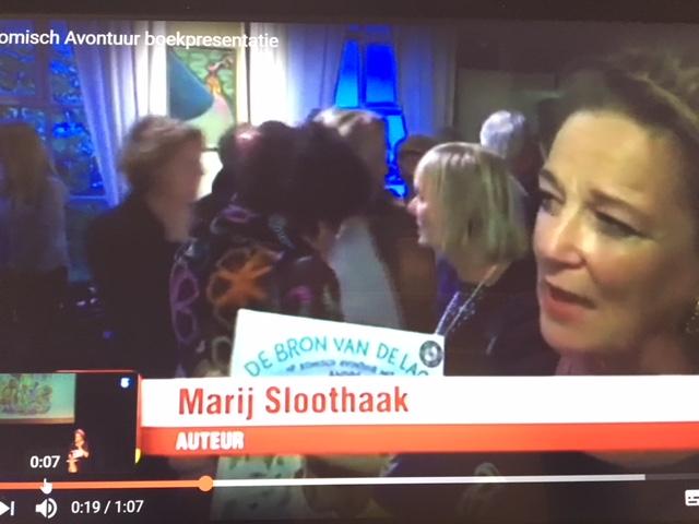 Filmpje boekpresentatie op Telegraaf TV.